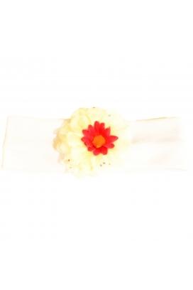 Tomuycuk Bebe Kırmızı Çiçekli Penye Bebek Bandanası