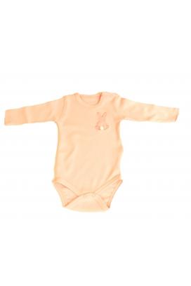 Tomuycuk Bebe Tavşan Pembe Ultra Organik Pamuk Çıtçıtlı Zıbın