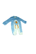 Amazingo Penguen Mavi Organik Pamuk Çıtçıtlı Tulum 0-3 Aylık