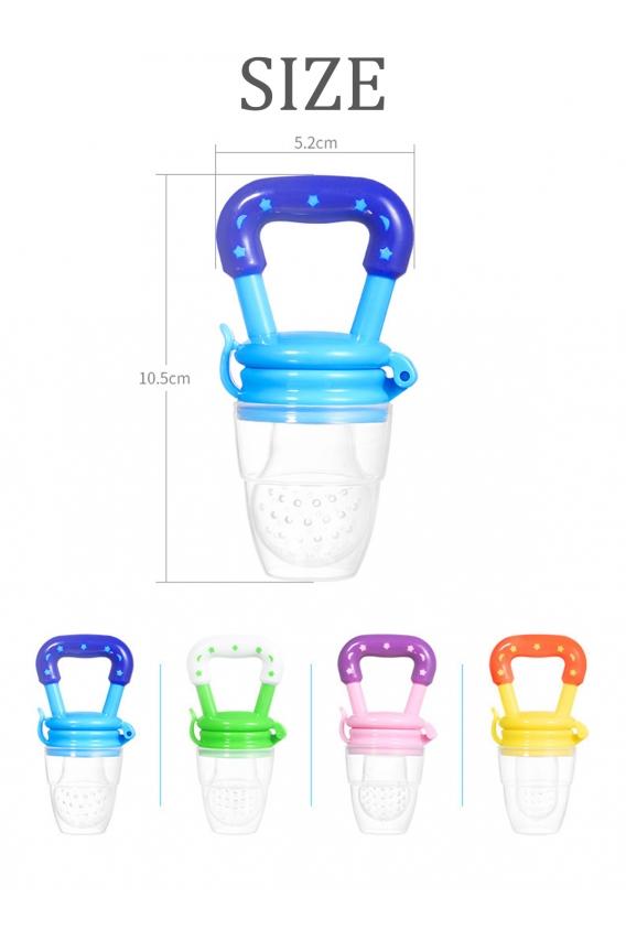 Bebek Meyve Besleyicili Diş Kaşıma Emziği Pembe