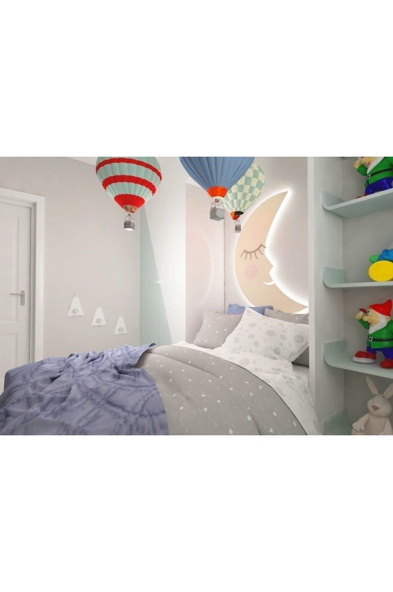 Odun Concept Montessori Dağ Zirve Ahşap Duvar Rafı