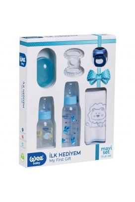 Wee Baby İlk Hediyem İlk Açılacak Kutu Bandrollü Mavi Set