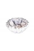 Amazingo Babynest Pamuk Kumaş Bebek Uyku Yatağı Oyun Minderi
