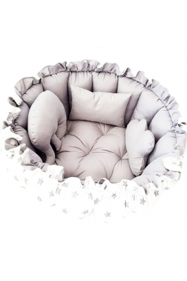 Amazingo Babynest Pamuk Kumaş Bebek Uyku ve Oyun Minderi