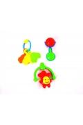 Baby Toys Üçlü  Eğitici Çıngırak Keşfetme Oyuncak Seti
